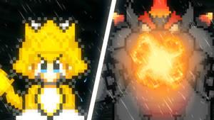Giga Cat Mario Vs Bowser Fury