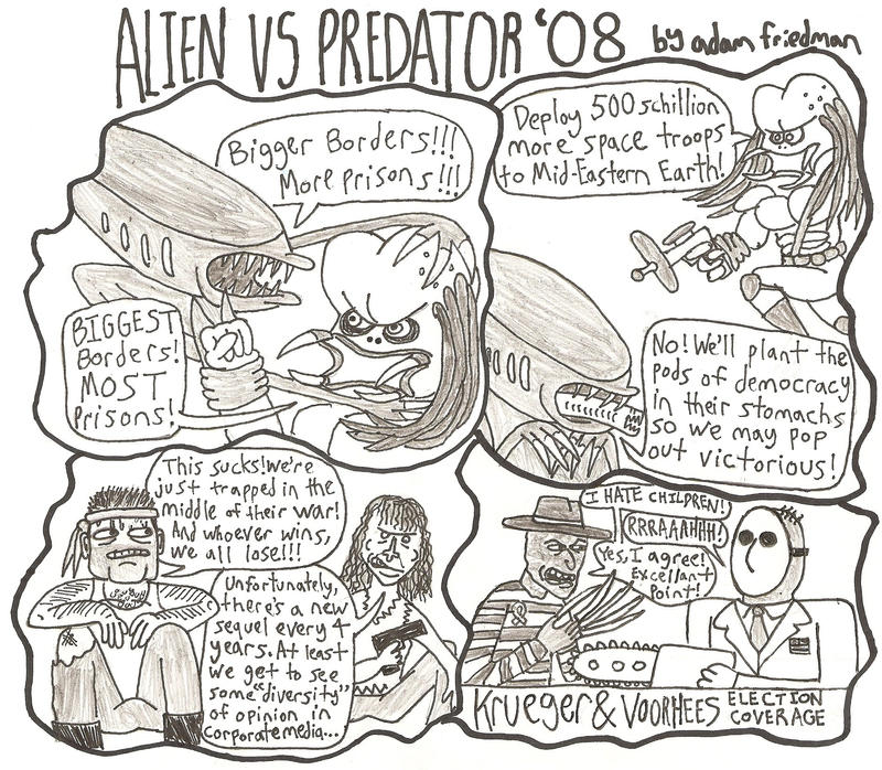 Alien VS Predator '08 by adamndirtyshame