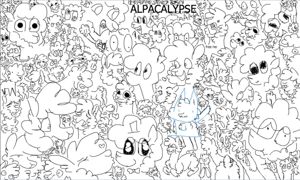 Alpacalypse by SpazzinCat