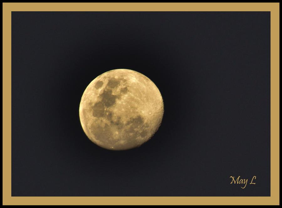 Nearly Full Moon by MayEbony