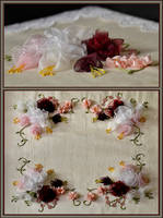 Silk Ribbon Rose Embroidery by MayEbony