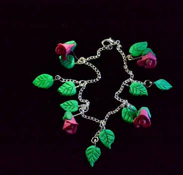 Rosebuds and Leaves Bracelet by MayEbony