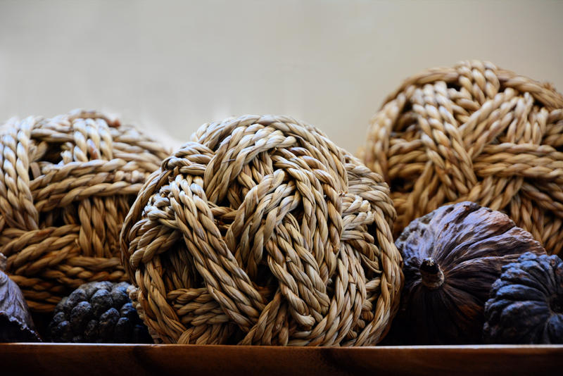 Beautifully Lit Rope Balls by MayEbony