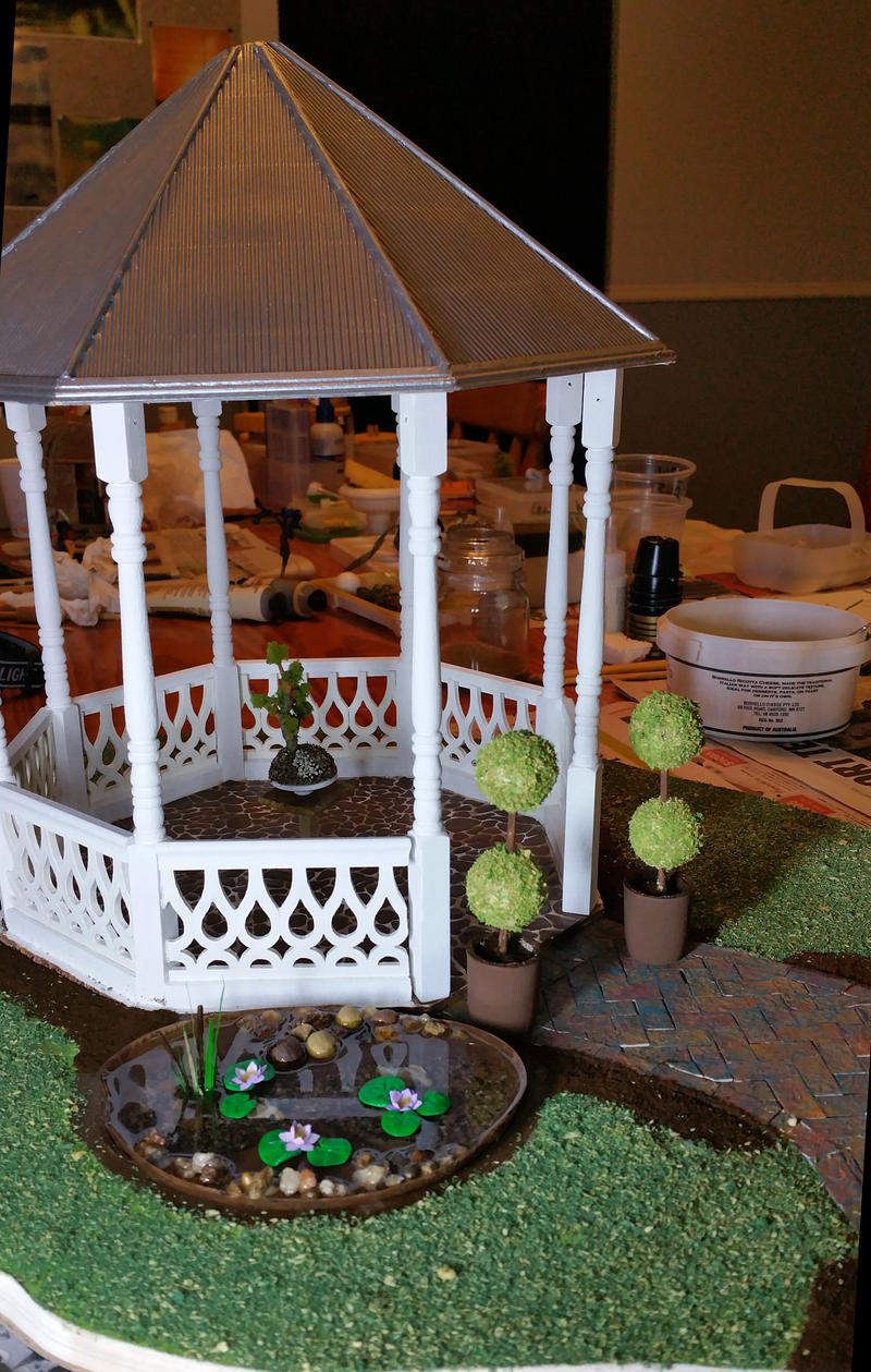 WIP Gazebo and Garden by MayEbony