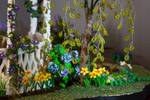 Daffodils and Hydrangea