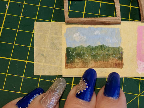 Miniature Landscape Acrylic Painting
