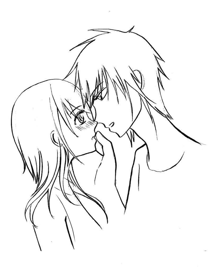 Sketsa gambar couple