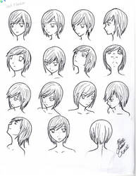 Reference- Head face angles and perspective by BlackRabbitExorcist