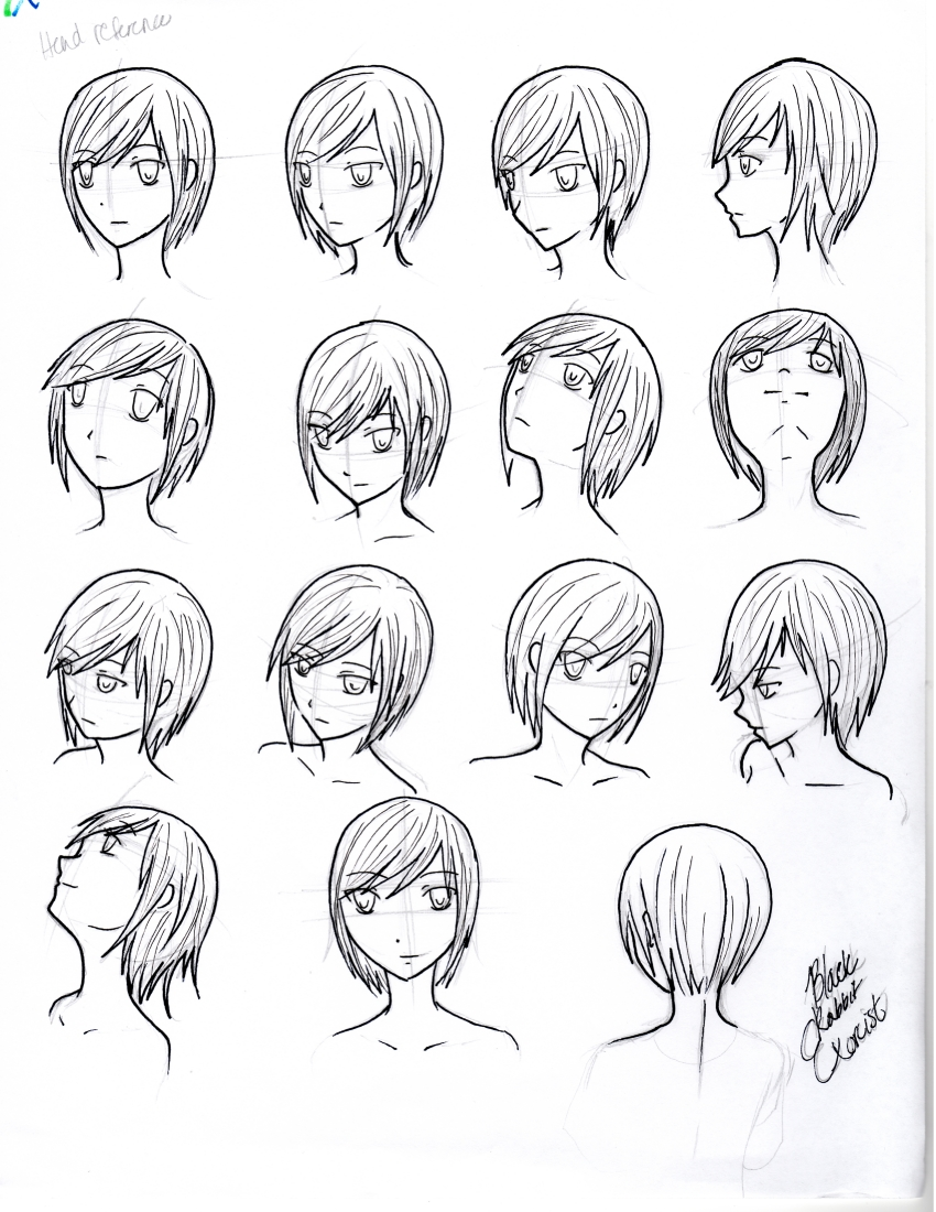 Reference Head Face Angles And Perspective By BlackRabbitExorcist