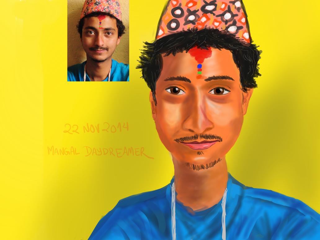 Self portrait Nov 2014 by sumangal16