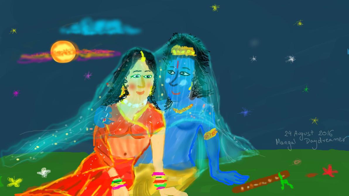 Romantic Radha Krishna by sumangal16
