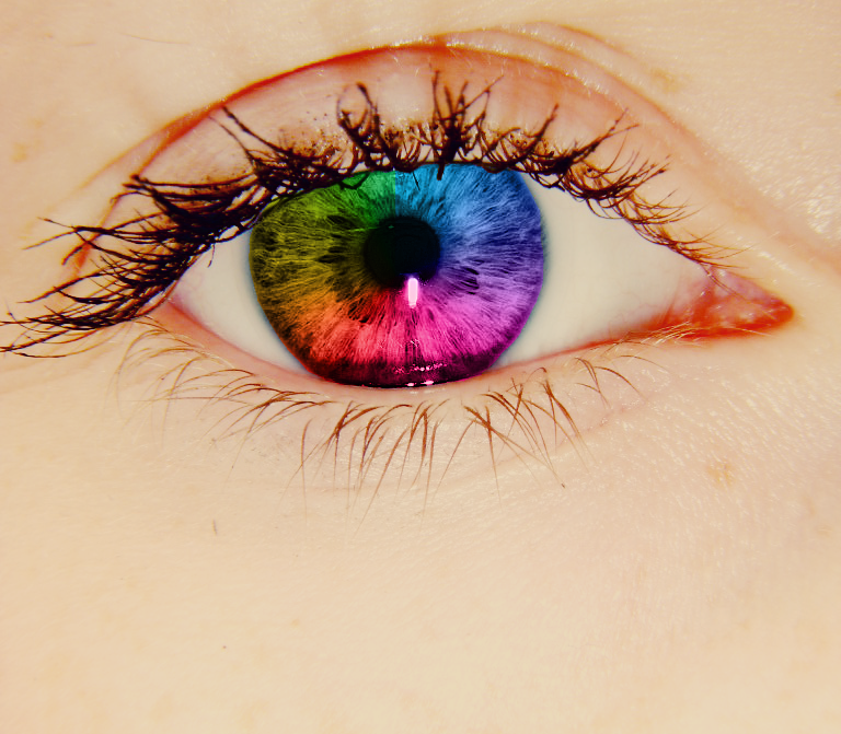 Rainbow Eye by OhhSnappItsMegg on DeviantArt