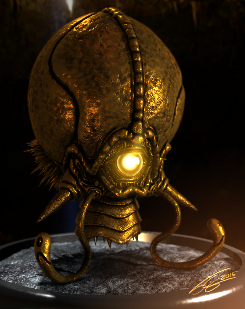 Golden Statue - Phantoon by FrancoFerrari