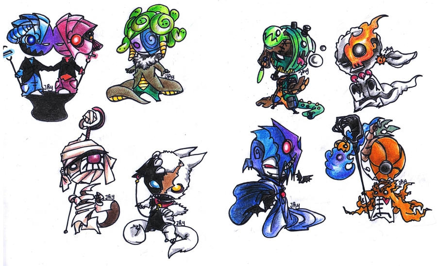 Halloween monsters by kiraraJHY on DeviantArt