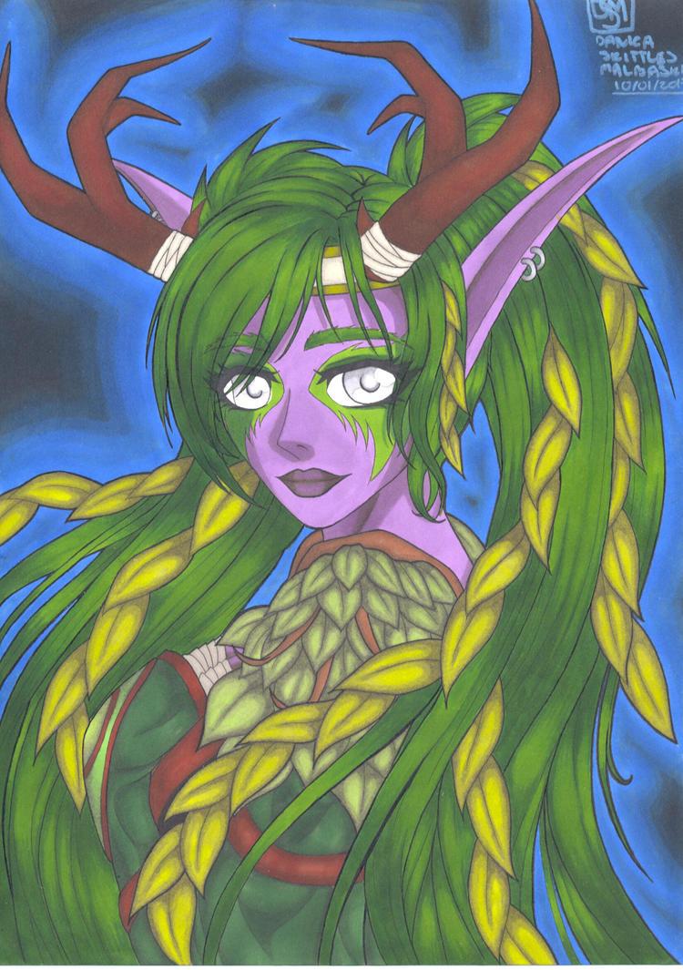 Commission: Kaldorei Druid by Danica-Malbaski