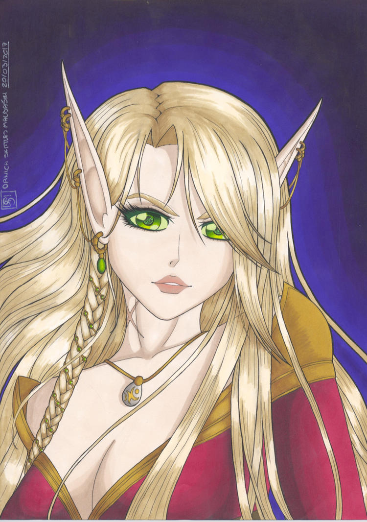 Lady Tialis Roseheart by Danica-Malbaski