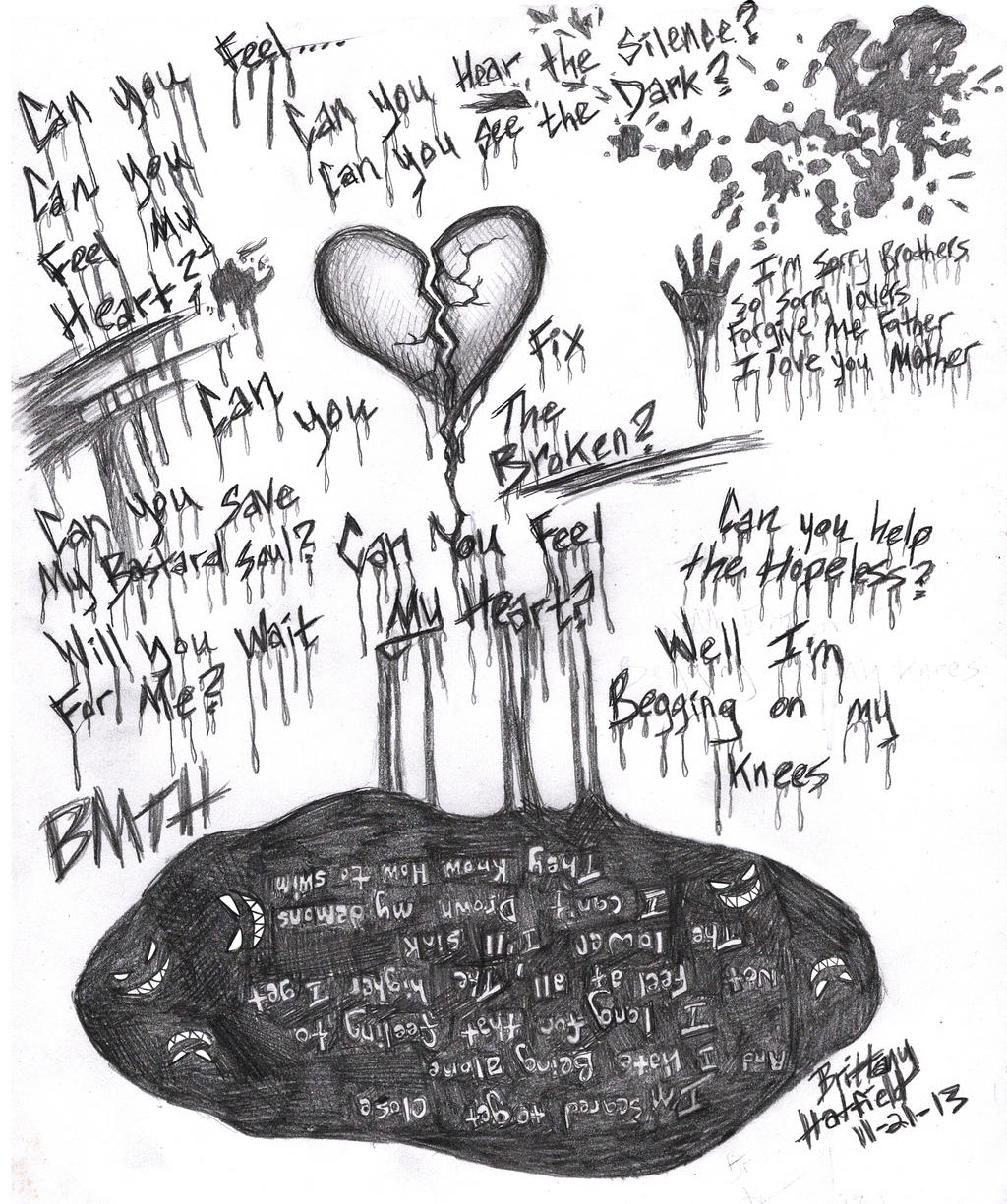 bmth can you feel my heart by darkangel2008 on deviantart