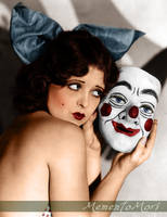 Clara Bow and mask. by M3ment0M0ri