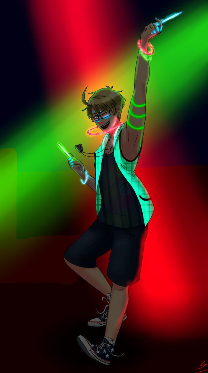 Disco pogo/Rave America- Aph hetalia art by deathnoteL2009
