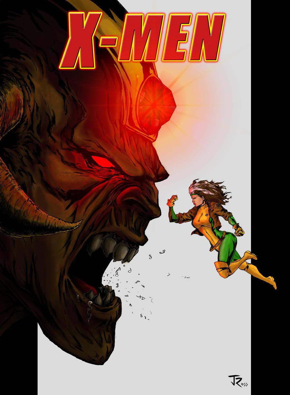 Rogue vs. Monster by jonrosscomics