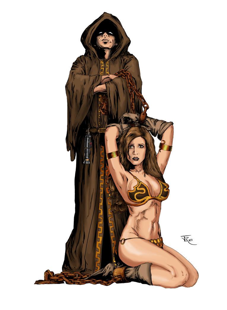Jedi's Slave Leia colored by jonrosscomics