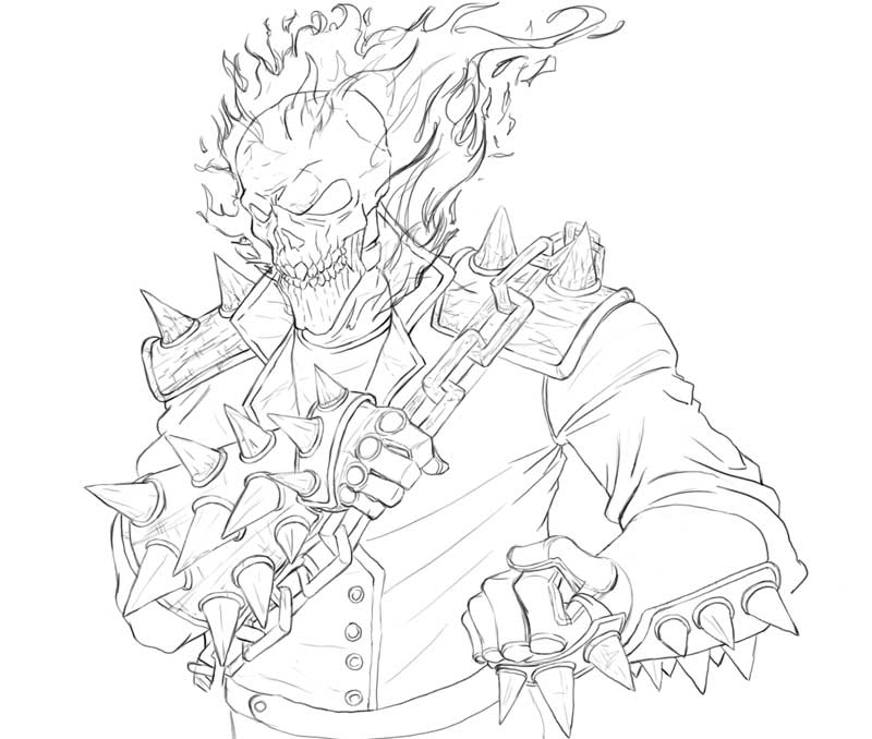 ghost rider coloring page - ghost rider by genchis on deviantart