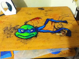 Leo.... 1/4 Done TMNT by coldplay3277