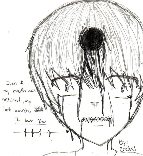 stitched mouth what by CRISTAL-CHAN on DeviantArt