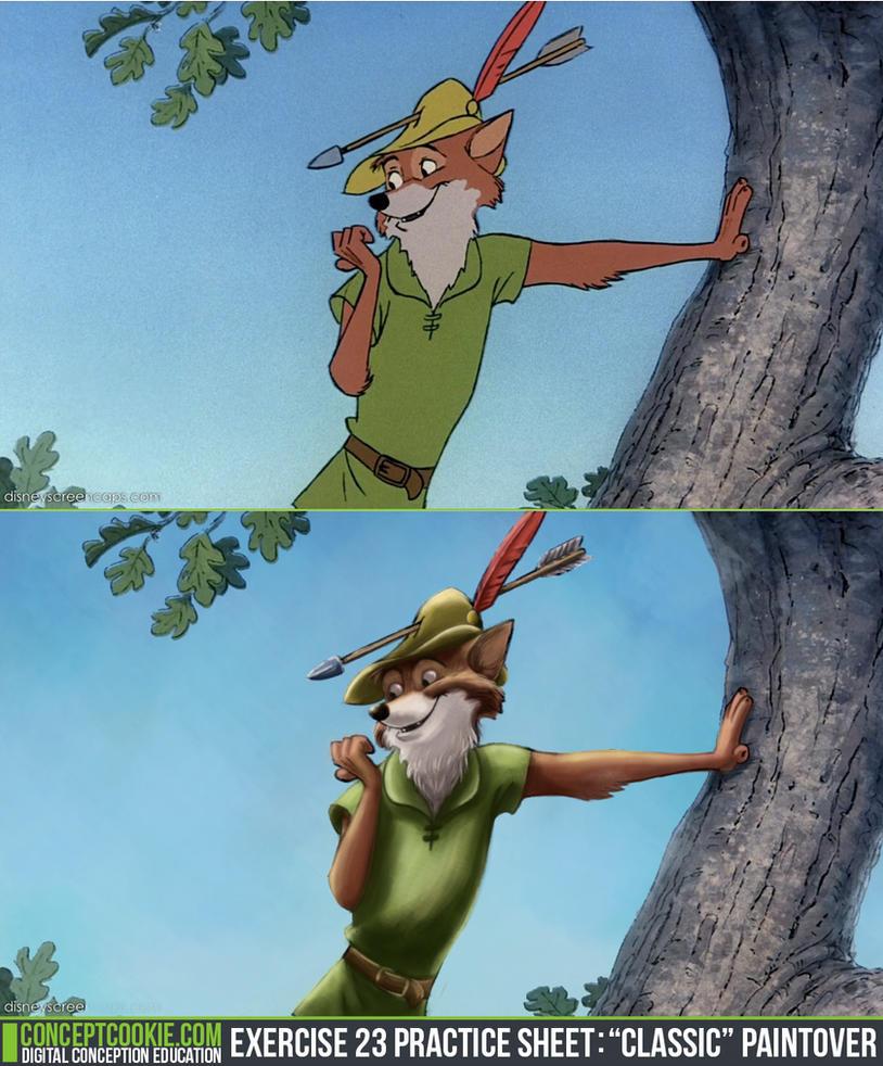 Robin Hood Paintover by Bambi-Killer
