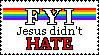 Jesus Didn't Hate