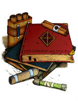 Magic Scrolls and Books by CarlosTorreblanca