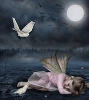 Sleeping Little Fairy by addieortiz
