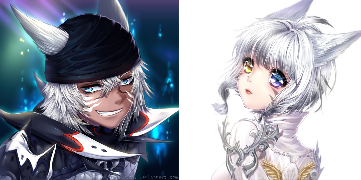 Final Fantasy XIV - Headshots #1 by RimaPichi