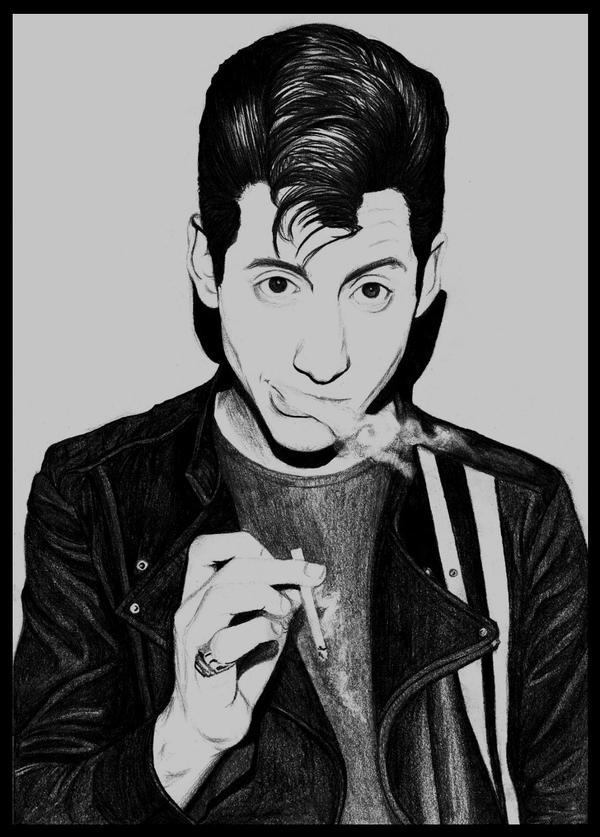 Alex Turner - Cigarette smoke by skinny13