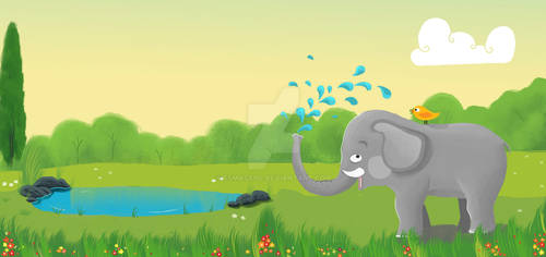 Elephant and the Bird