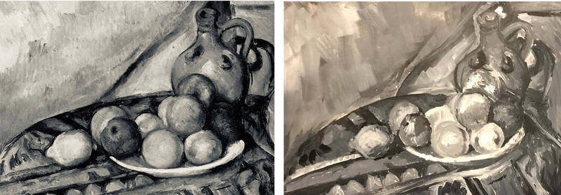 Cezanne study-Fruit and Jug on a Table