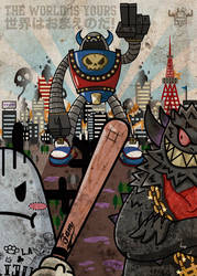 THE WORLD IS YOURS - L.A Kaiju FAM by ExoesqueletoDV