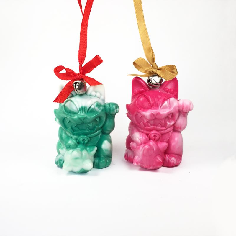 Maneki Wananeko Xmas ornaments by ExoesqueletoDV