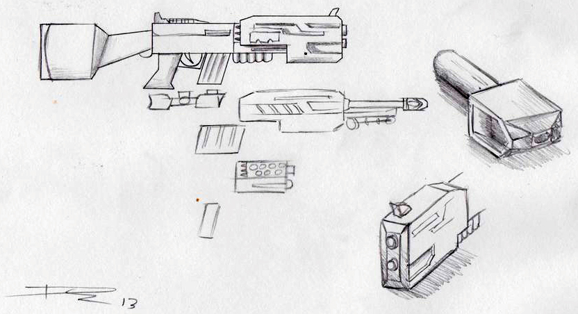 Gun Concept (Project Ident) by Souptra