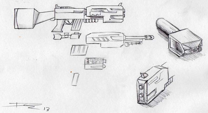 Gun Concept (Project Ident) by Souptra
