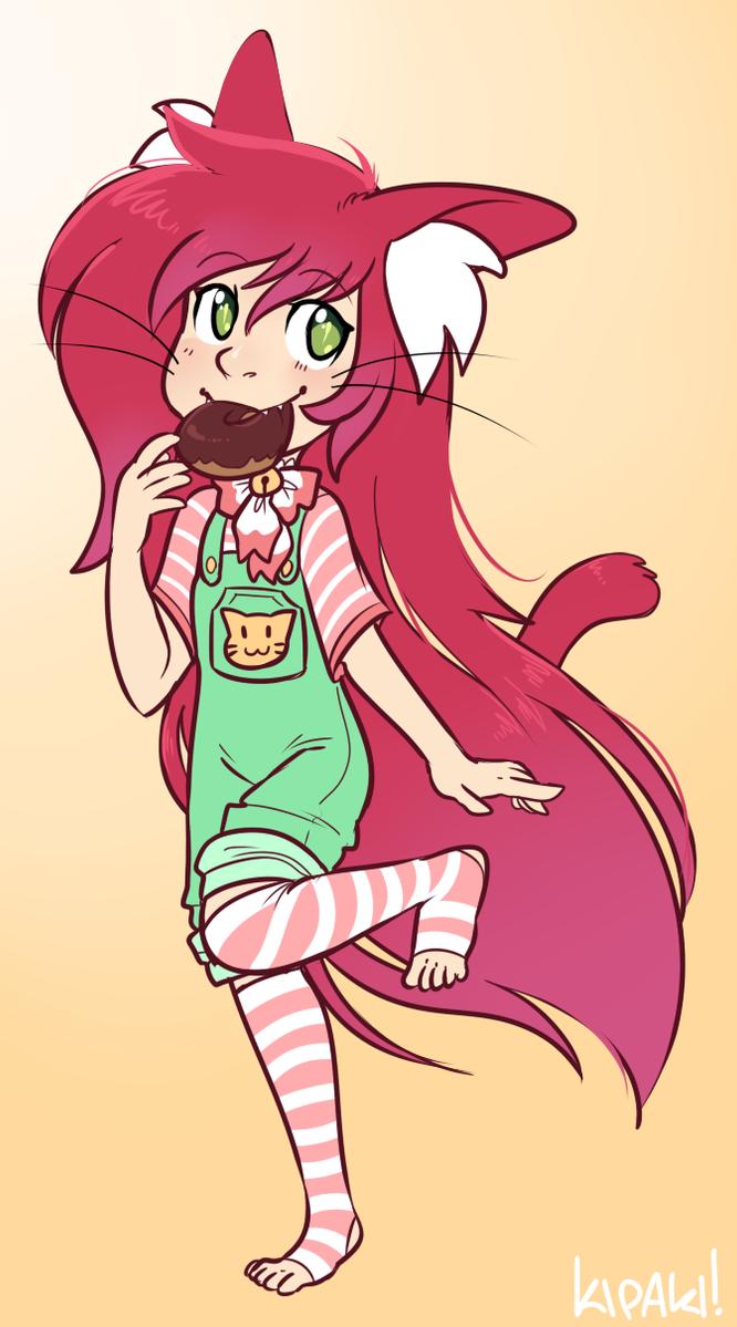 Donut girl by Kipaki