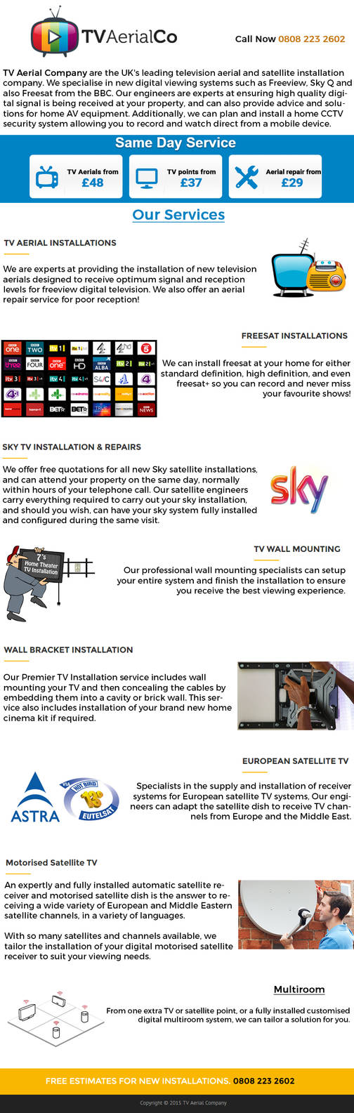 TV Aerial Company Infographics by danywald597
