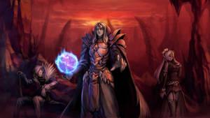 Demon prince with servants by breakiel