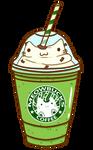 Green Tea Cat Latte
