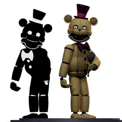 Fredbear (stylized...i guess) by MendigoDasGalactas