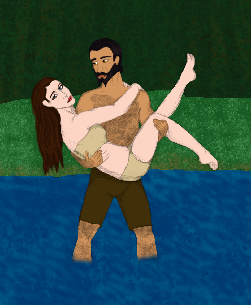 Helaine and Blackwall for CailanTheirin - sized do by EmeraldAqua