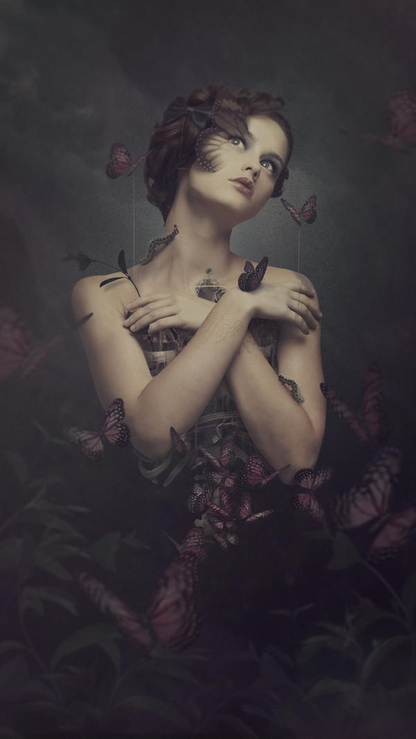Melancholia of butterflies by elanesse-v