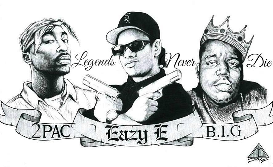 Rap Legends Legends Never Die 42x30 Cm By Lazar Milanovic On Deviantart