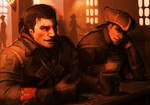 Shay Cormac and Haytham Kenway in a pub