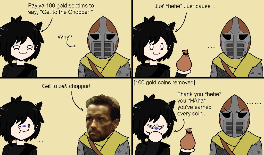 Skyrim: You sound like someone I know by AuronRhexis